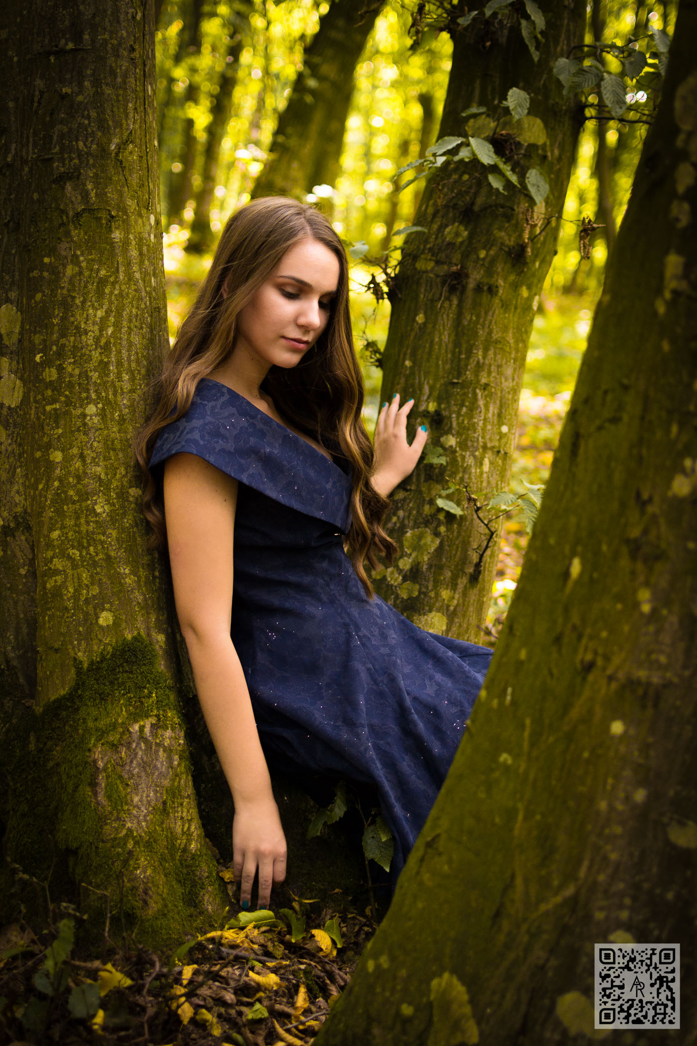 Andreea Musat - Blue Dress